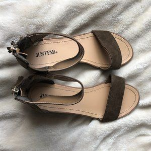 JUSTFAB Brown sandals size 6.5